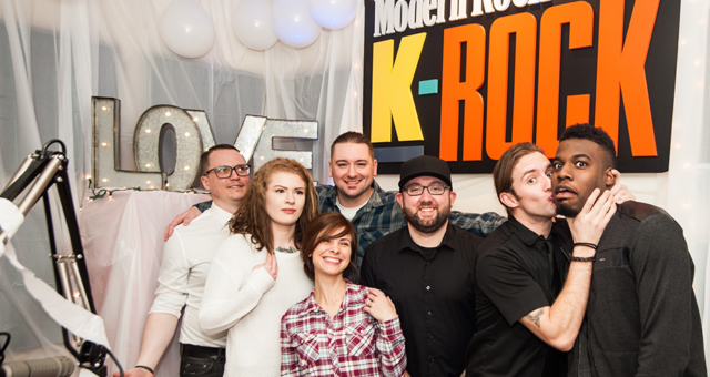 THE REALLY REALLY EARLY LIVE WEDDING AT KROCK RADIO STATION during the morning show !