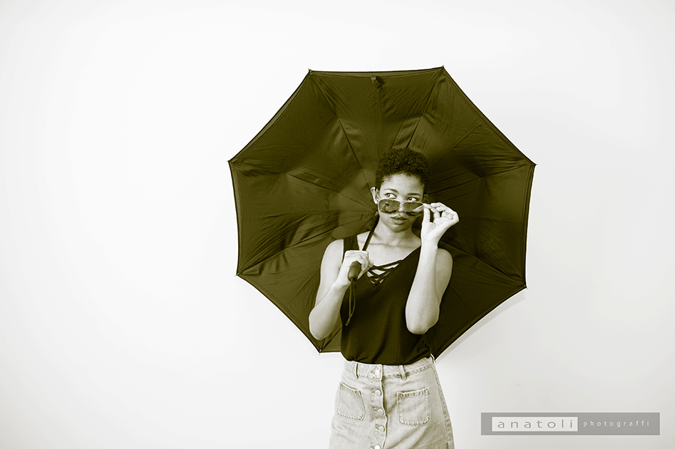 umbrella and shades are fun for a senior shoot