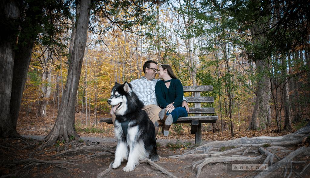 engagement photo with family member Maverick by Wedding photographer Syracuse